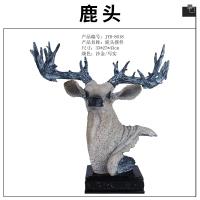 现代家居创意饰品鹿头摆件工艺礼品壁挂树脂仿真鹿头雕塑挂件