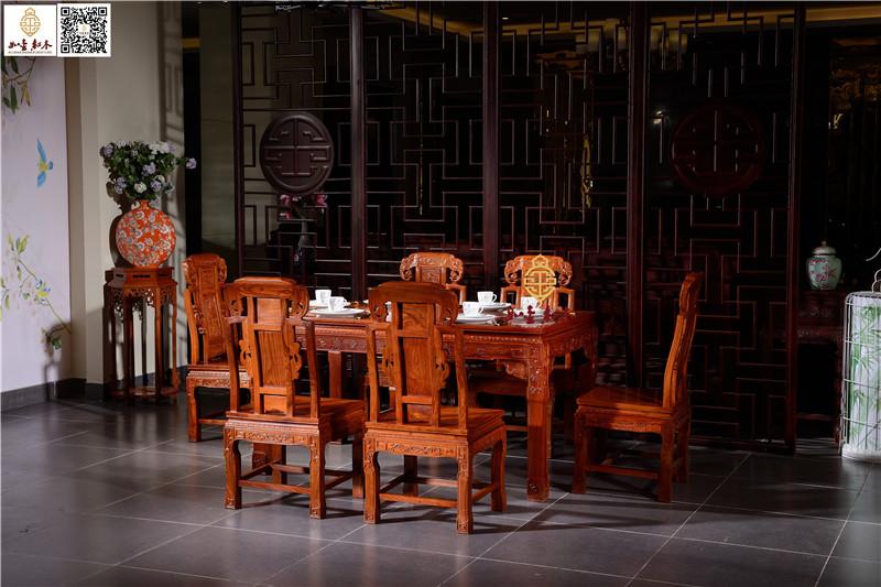 象头餐桌,东阳红木餐桌,花梨木餐桌直销,中式古典实木餐桌椅