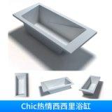 卫浴沐浴用具Chic热情西西里浴缸嵌入式长方形软体浴缸
