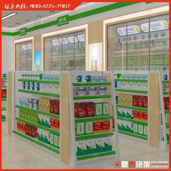 药店货架平面设计@ 药店货架形像设计@ 药店货架效果图设计