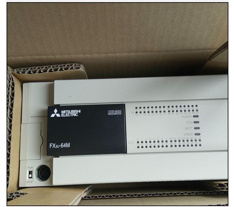 三菱plc fx3u-64m伺服电机变频器高速通信口可编程控制器