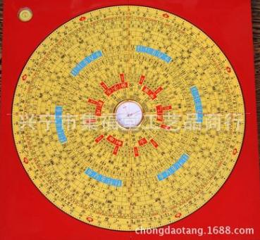 厂家直批 集福堂精品10寸纯铜面板三元三合综合 罗盘
