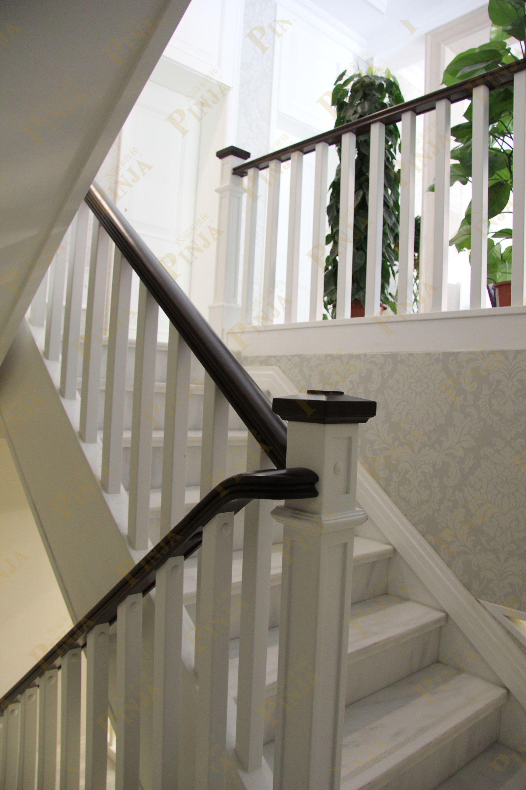 樓梯大理石櫸木扶手_樓梯式樣造型設計_櫸木樓梯方柱實惠