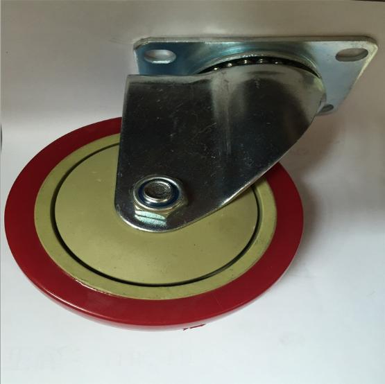 4寸活动pvc工业脚轮图片/4寸活动pvc工业脚轮样板图 (1)
