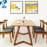现代简约实木餐桌休闲茶餐桌办公桌书桌电脑桌1.2,厂家直销