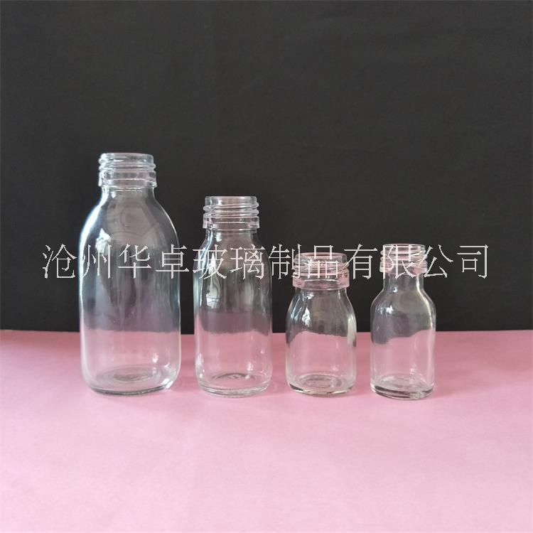 供应100ml透明口服液瓶 药用玻璃瓶 保健品瓶 饮料瓶