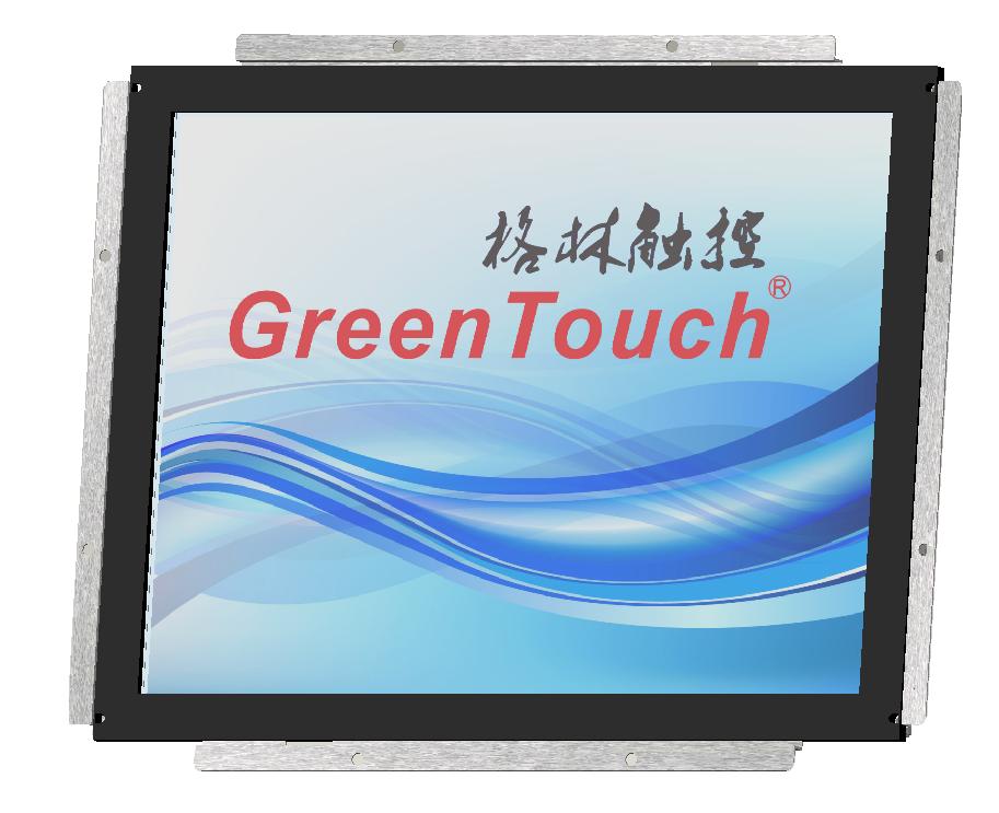17寸工业级嵌入式声波触摸显示器