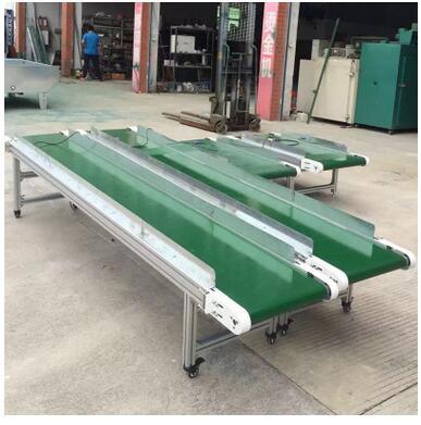 定制移动式皮带输送机爬坡输送机 微型传送台传送机流水线传送带