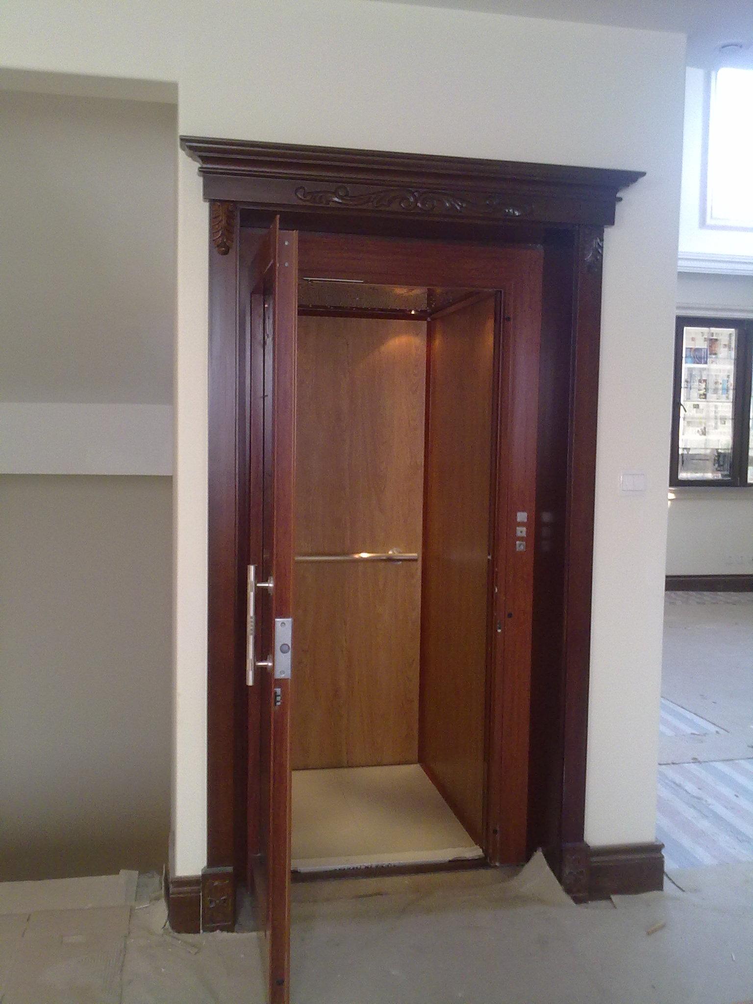 天津红别墅世界电梯【天津家用项目电梯安装中我意思液压别墅什么都需要的图片