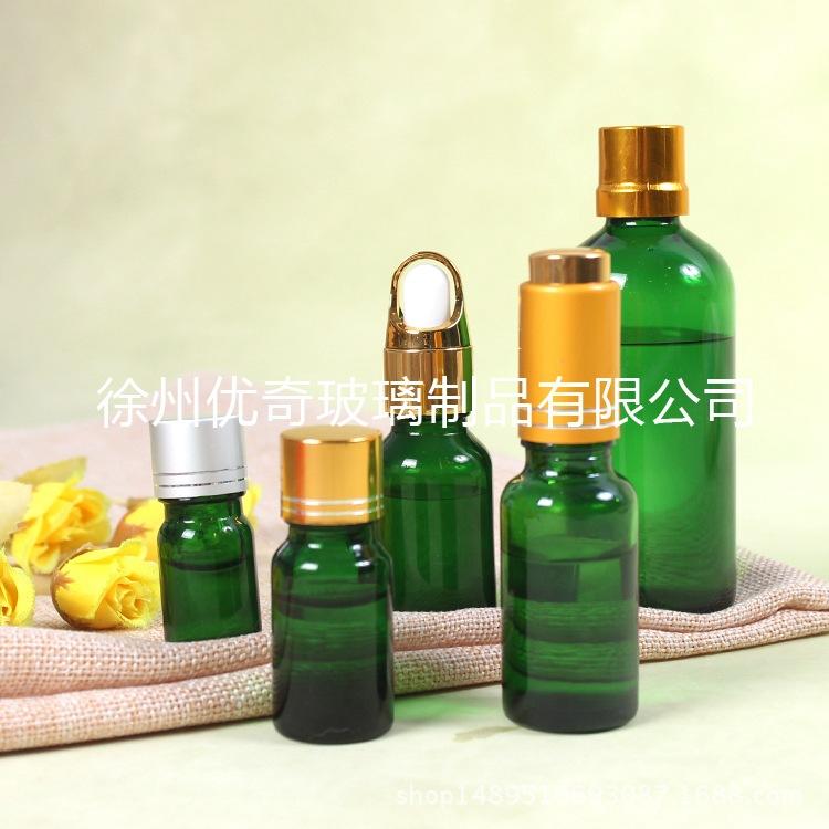 现货供应 20ml绿色精油瓶 20毫升玻璃瓶 精油盛装瓶 香精瓶