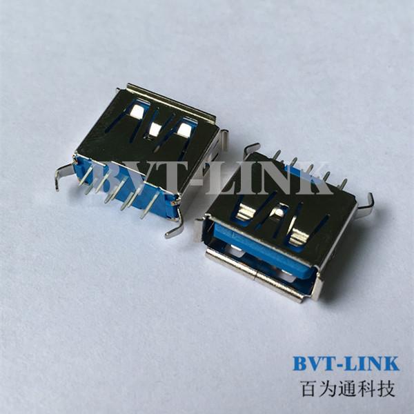 深圳USB3.0 直立式母座价格_深圳USB3.0连接器生产厂家