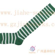 双色间色横条纹长棉袜 环保棉料横条纹高筒袜 广东横条纹袜子厂批发