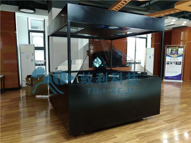 360度全息展示柜 四面幻影成像玻璃展示柜 裸眼3D立体成像全息金字塔 360全息展柜批发 悬空中成像玻璃展柜透明屏展柜