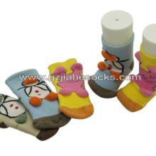 广州保暖袜 儿童袜 立体卡通毛巾童袜 毛巾立体卡通BB袜外贸袜厂图片