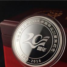 厂家专业生产镀银纪念章 纪念币定制 银币制作 金银章定做批发 纯银纪念币