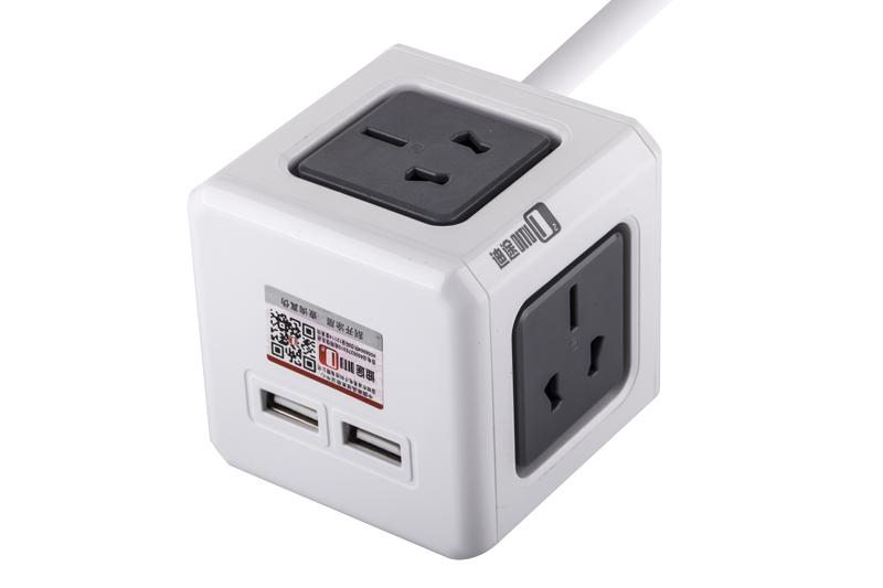 带USB魔方插座图片/带USB魔方插座样板图 (2)