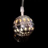 led圣诞彩灯 仿铁艺摩洛哥球灯串 仿金属圆球串灯 宿舍装饰闪灯