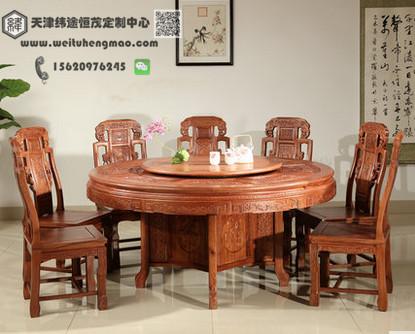 北京电动餐桌椅 实木电动餐桌椅 实木雕刻餐桌椅