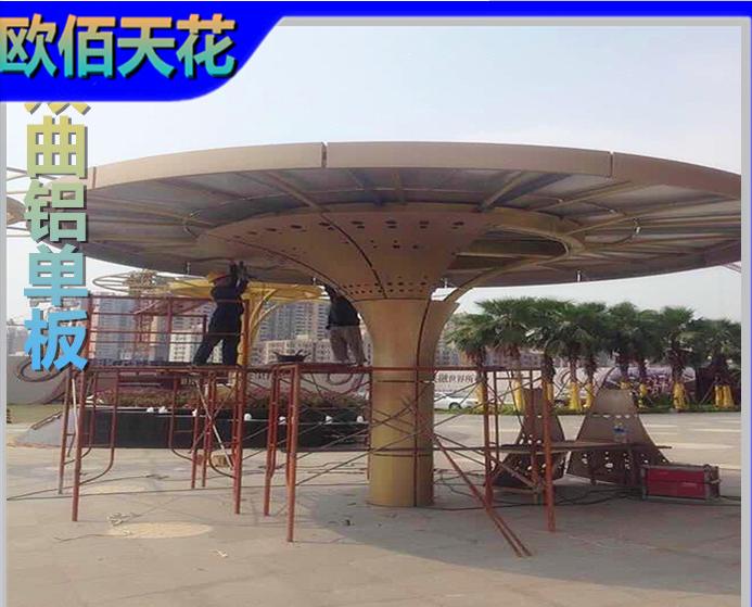 广东包柱铝单板厂家|采购金属包柱铝板|异形镂空铝单板图片