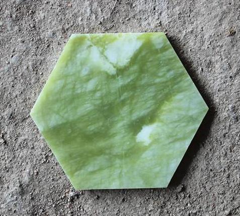 绿玉六角片 绿玉六角片绿玉板材六角片地砖桑拿汗蒸墙面材料