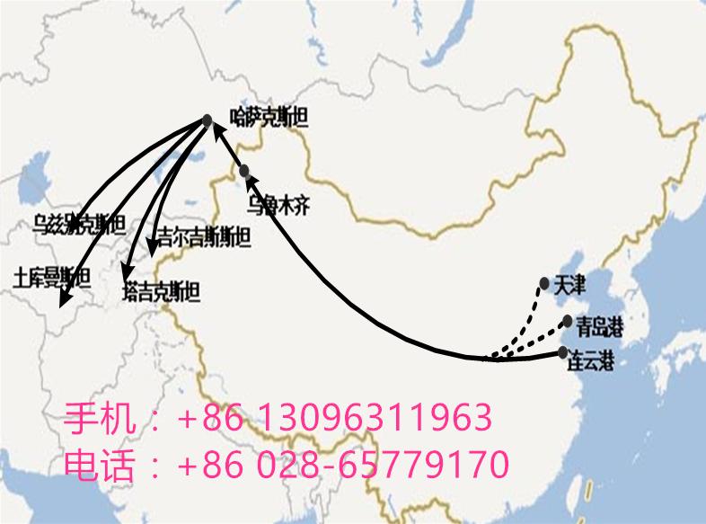 宁波、杭州到哈萨克斯坦阿特劳661705拼箱、整柜清凉价铁路 杭州到哈萨克斯坦阿特劳铁路运输