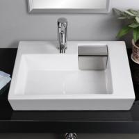 箭标 方形台上盆 侧边隐藏式下水台盆 洗脸盆 洗手盆 陶瓷盆台盆