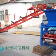 同信半自动砌砖机 移动式制砖机 免托板砖机小型免烧空心水泥砖机