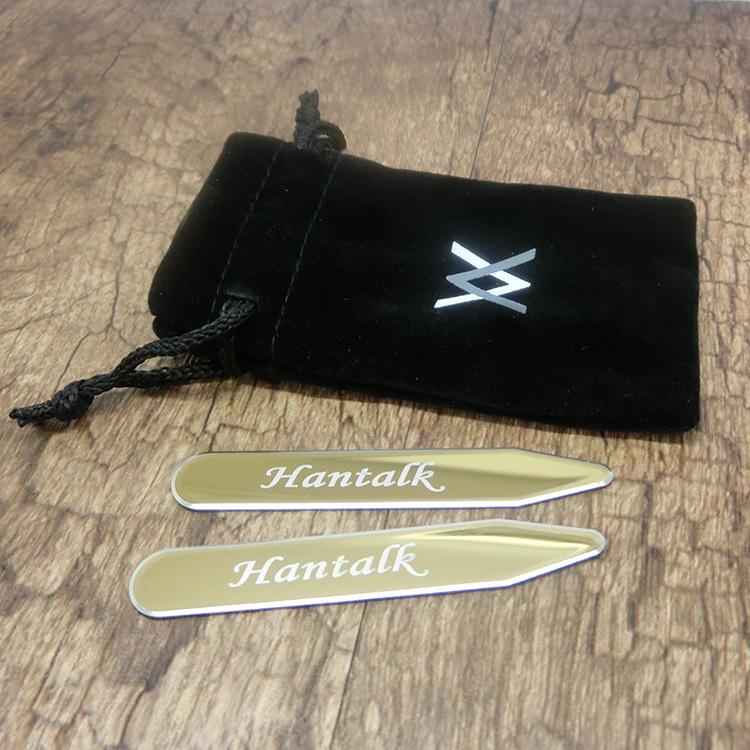 商务礼品定制logo衬衫高档配件不锈钢镜面领撑可定制