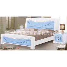 南康家具网 欧式 套房1.8米双人床 主卧板式成套家具