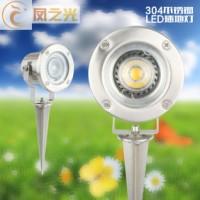供应LED插地灯 LED不锈钢插地灯花园庭院草坪防水射灯亮化地上射灯