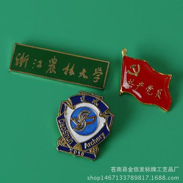 专业定制珐琅镀金烤漆不锈钢合金防锈金属工艺品纪念徽章 定制纪念徽章