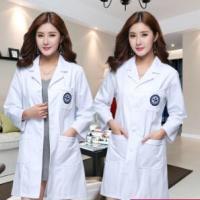 服装加工厂定制韩版白大褂医生服护士服长袖美容师美容院工作服