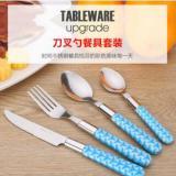 不锈钢餐具批发勺子套装 儿童西餐刀叉餐具套装 户外便携刀叉勺子