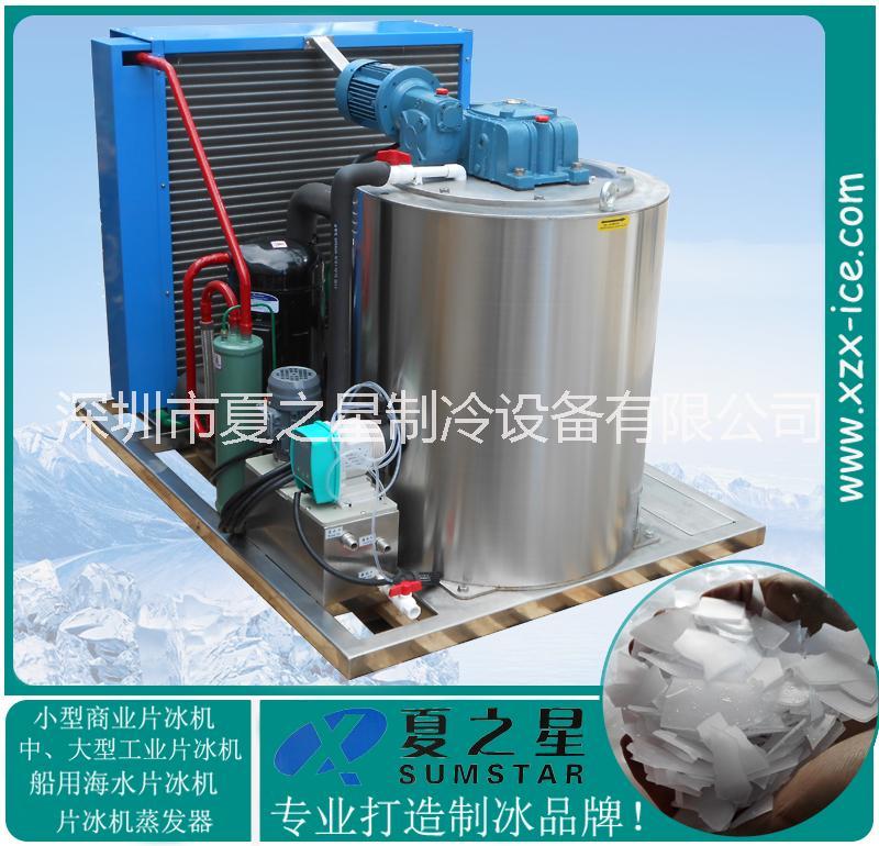 山东威海日产2T水产加工不锈钢片冰机厂家 威海水产加工机械设备厂家
