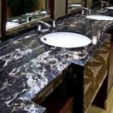 石材 石料建材公司 黑白根工程板 星级酒店黑白根洗手台