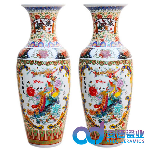 景德镇陶瓷大花瓶 景德镇礼品陶瓷厂家