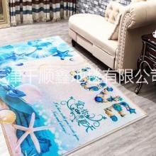 现代简约客厅潮牌印花地毯 3D防滑地垫门垫定制