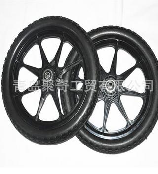 16寸实心自行车轮子、工具车轮