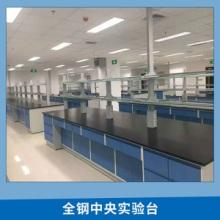 厂家直销高校实验室全钢中央实验台 全钢实验边台 钢木中央试验台批发