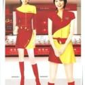 尺子剪刀布定制新款促销服 牛奶促销服 药品促销服