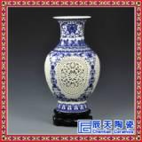 家居装饰双层陶瓷镂空花瓶