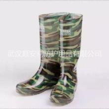 工地民用男式雨鞋武汉雨鞋批发民用套鞋价格迷彩男式高筒雨鞋图片