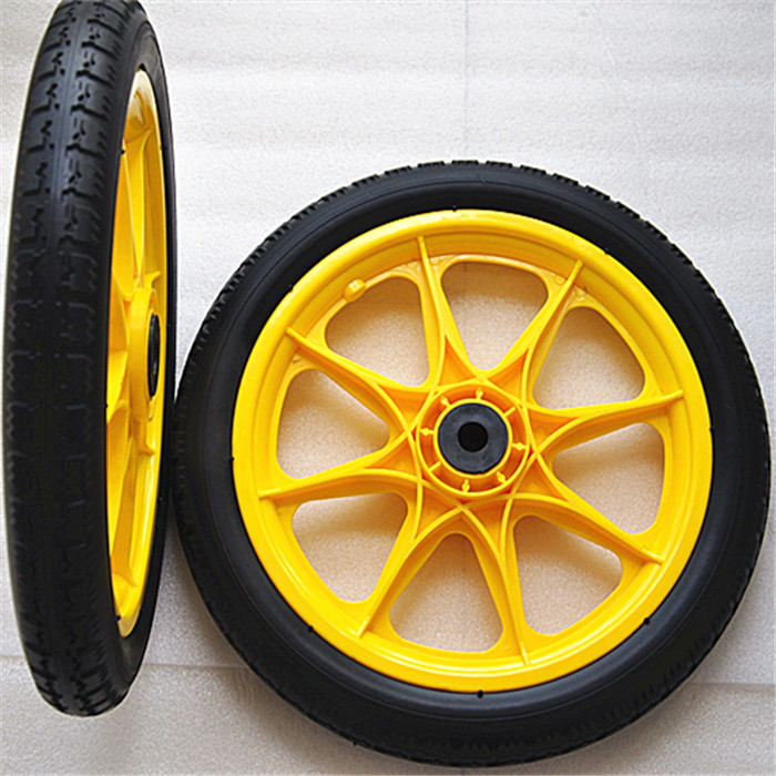 厂家直销14寸PU发泡实心工具车轮子 14寸发泡轮 山东厂家直销