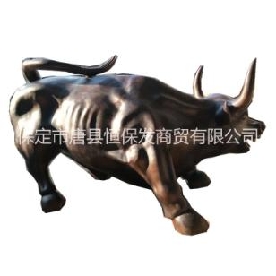 华尔街铜牛雕塑图片