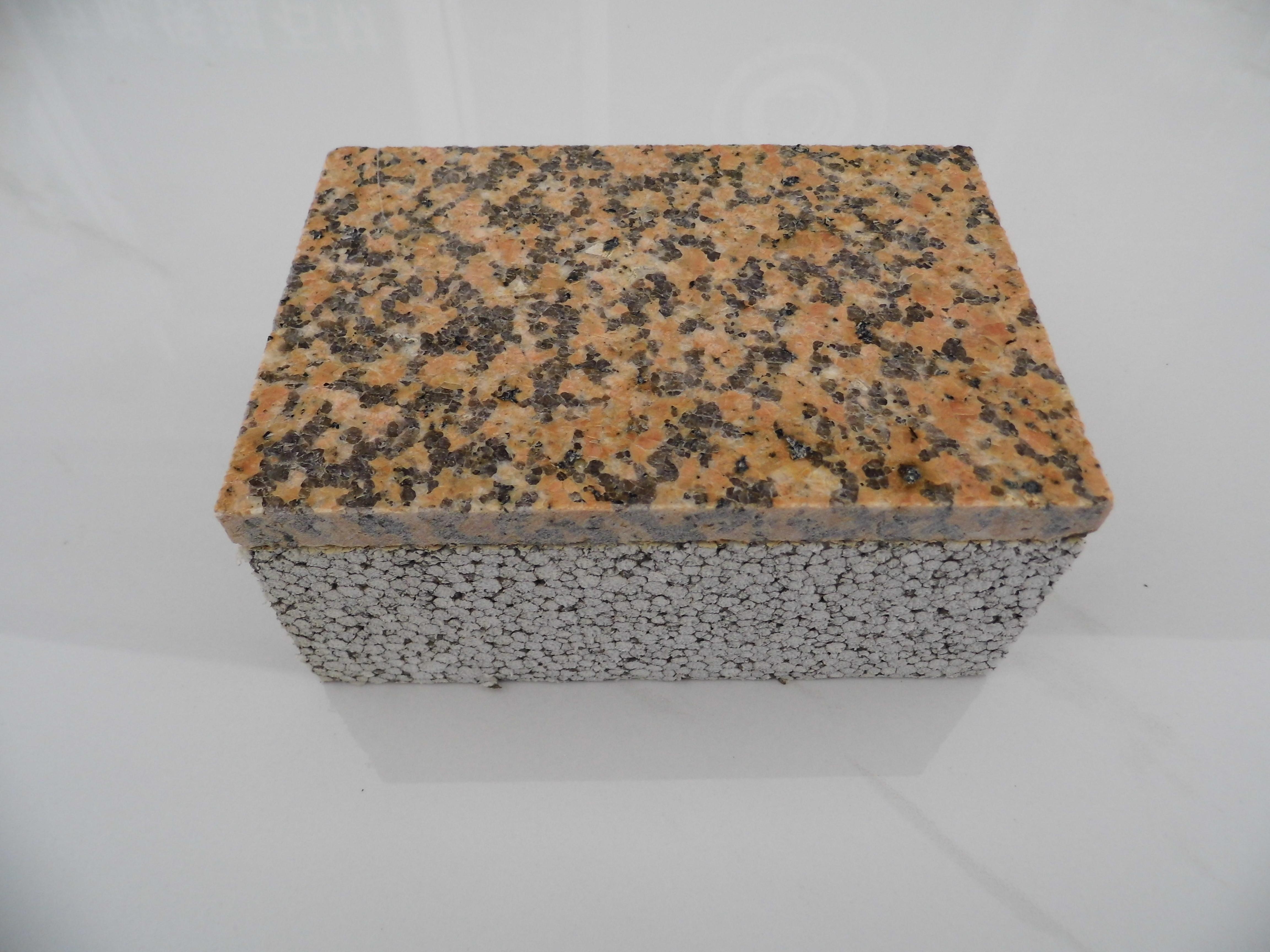 黄金麻(毛面)花岗岩保温装饰一体
