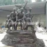 抗战人物铜雕 铸铜人物摆件 红军人物纯铜雕塑 铜雕厂家 解放军雕塑定做 名人抗战雕塑 广场大型铸铜抗战人物 铸铜雕塑厂