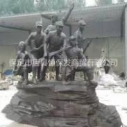 抗战人物铜雕图片