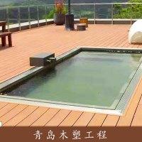 青島木塑工程戶內外pe、pvc木塑裝飾材料生態木木板材廠家直銷 图片|效果图