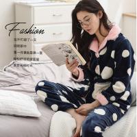 2017新款冬款女长袖法兰绒睡衣长袖法兰绒家居服 图片|效果图