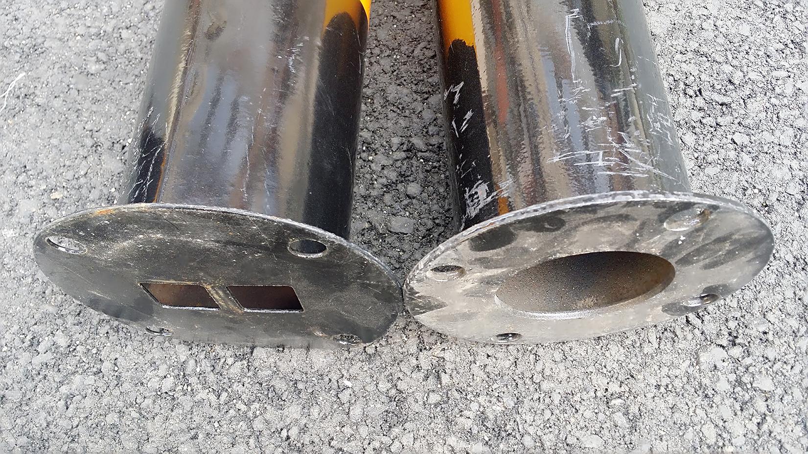 加厚钢管警示柱加油站防撞柱钢管地